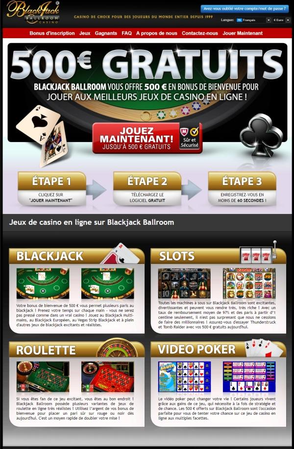 Casino en ligne Blackjack Ballroom
