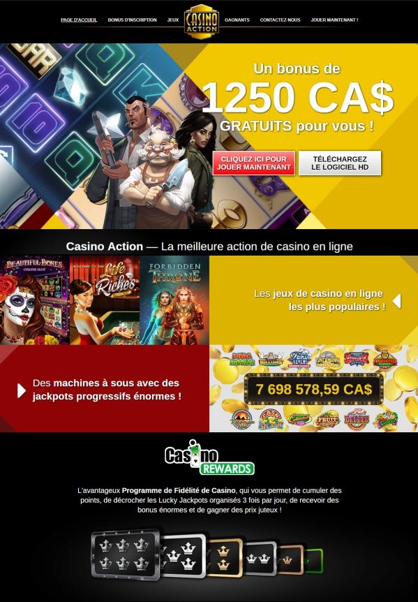Casino Action - Casino en ligne
