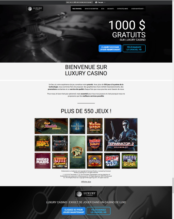 Luxury Casino - Casino en ligne